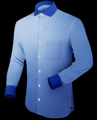 Umschlagkragenhemd with Italian Collar 2 Button