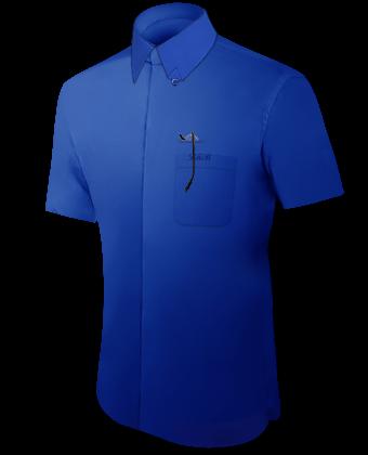 Umschlagmanschetten Hemd with Hidden Button