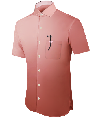 Uniformhemden Wei�� with Italian Collar 1 Button