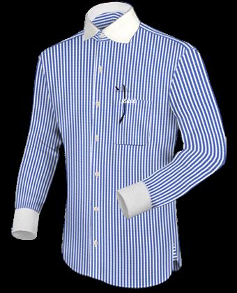 Vintage Herrenhemd with English Collar
