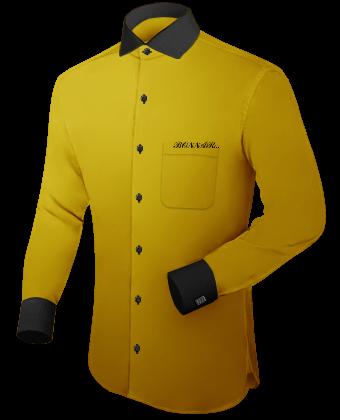 Wei��es Tailliertes Hemd Button Down Kragen G�nstig with Italian Collar 1 Button
