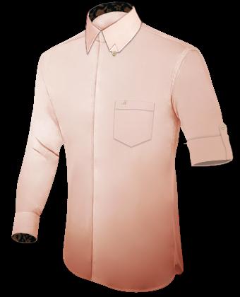 Xs Hemden with Hidden Button
