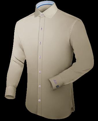 Zwei Hemden übereinander with Modern Collar