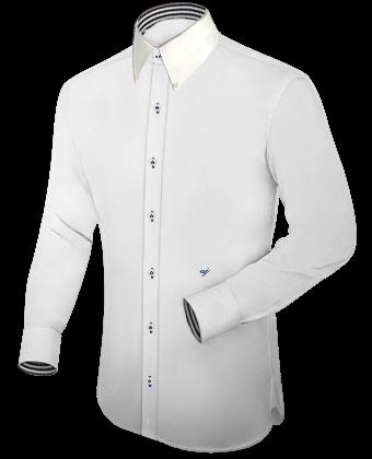 Herrenhemd Kurzarm with Italian Collar 1 Button