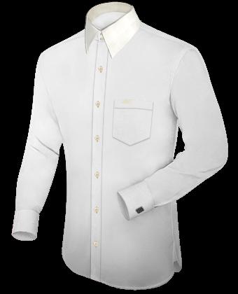 Italienische Herrenhemden with Italian Collar 1 Button