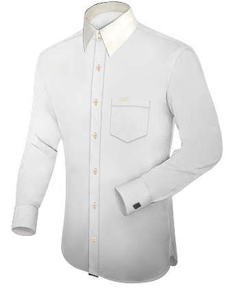 Beste Qualit�t Hemd with French Collar 2 Button