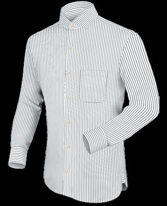 Hemden Ma��geschneidert with Italian Collar 1 Button