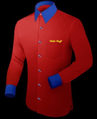 Herren Oberhemden with French Collar 1 Button