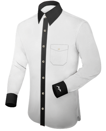 Herrenhemden Billig with French Collar 2 Button