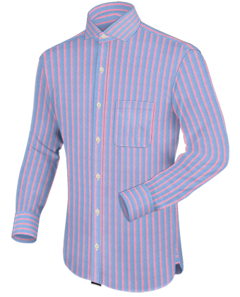 Herren Business Hemden with Italian Collar 1 Button