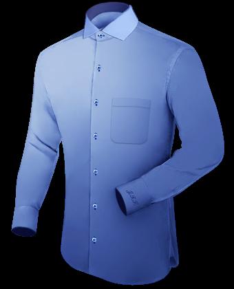 Amerikanische Hemden with Italian Collar 1 Button