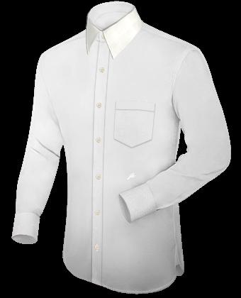 Kragen Hemd with French Collar 1 Button