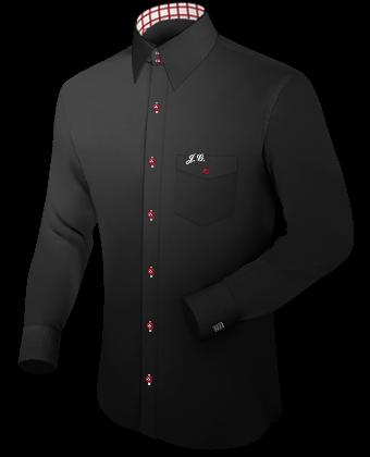 Kurzarmhemden with Italian Collar 1 Button