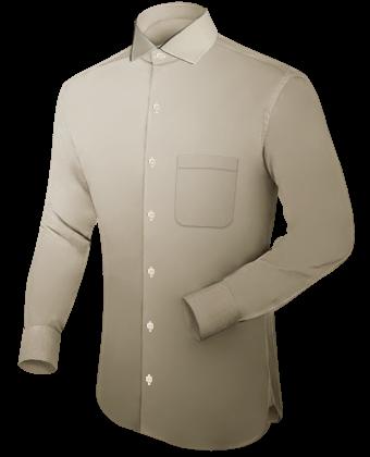 Langarm Hemden with Italian Collar 1 Button