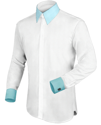 M�nner Kleidung with French Collar 2 Button