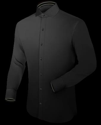 Ma��geschneidertes Hemd with Italian Collar 1 Button