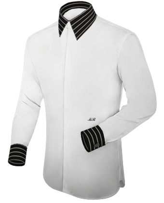 Ma��hemd Tipps with French Collar 2 Button