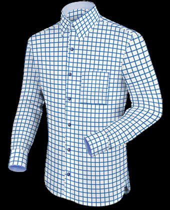 Modische Herrenhemden with French Collar 1 Button