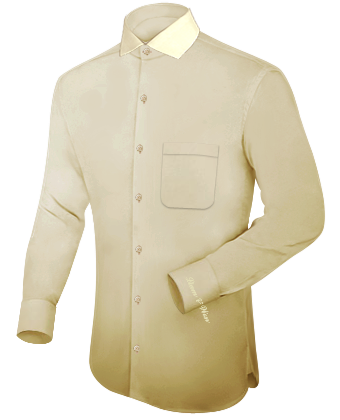 Oberhemd Stehkragen with Italian Collar 1 Button