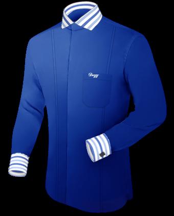 Schwarze Hemden with French Collar 1 Button