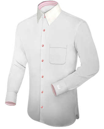 Slim Fit Hemd with French Collar 2 Button