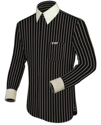 Um Hemd Online with French Collar 2 Button