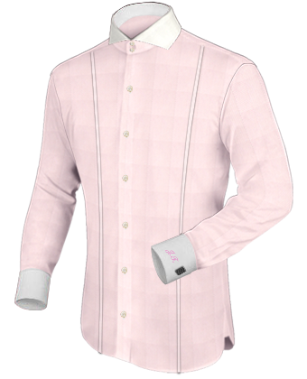 Uniformhemd with Cut Away 2 Button