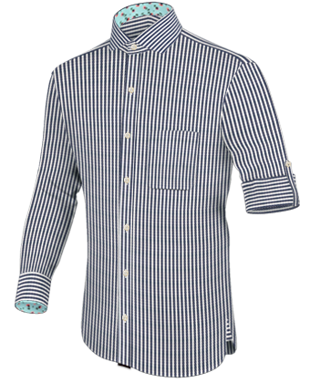 Weinrotes Hemd with Cut Away 2 Button