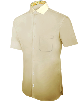 Weisses Hemd with Italian Collar 1 Button