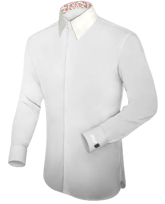 Arbeitsoberhemden F�r Grosse M�nner with French Collar 2 Button