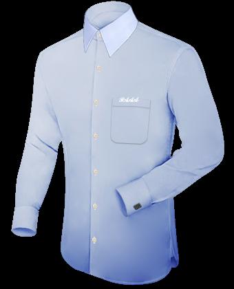 Billige Oberhemden Mit Krawatte with French Collar 1 Button