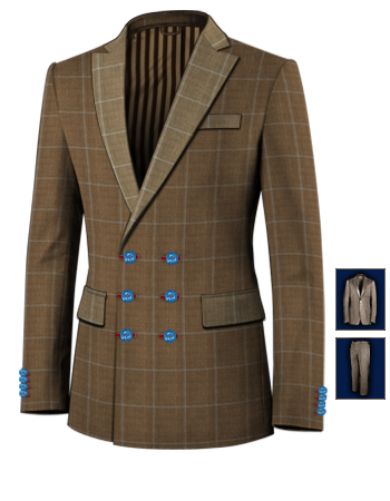Herrenmode Enabled with 6 Buttons, Double Breasted (3 To Close)