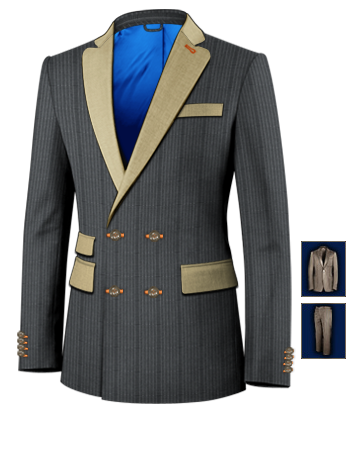 Anz�ge Herren Modern with 4 Buttons,double Breasted (2 To Close)