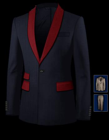 Ma��geschneidert Anzug with 1 Button, Single Breasted