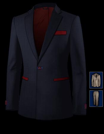 Tartan Anzug with 1 Button, Single Breasted