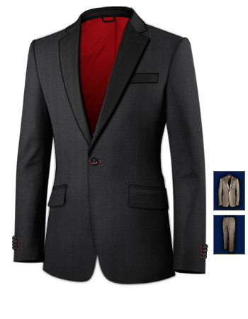 Herrenmode Anz�ge with 1 Button, Single Breasted