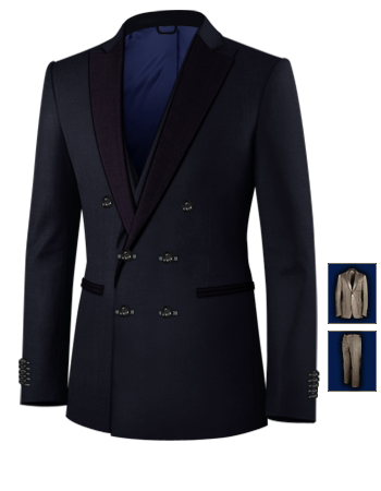 Herrenmode Anz�ge Enabled with 6 Buttons, Double Breasted (2 To Close)