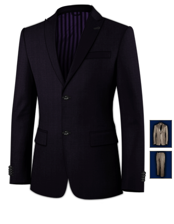 3 Teiler Anzug Slim Fit with 2 Buttons, Single Breasted