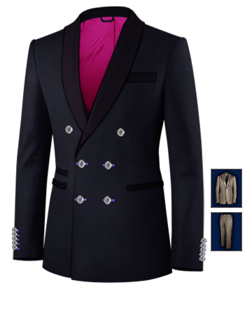 Konfirmations Anzug with 6 Buttons, Double Breasted (2 To Close)