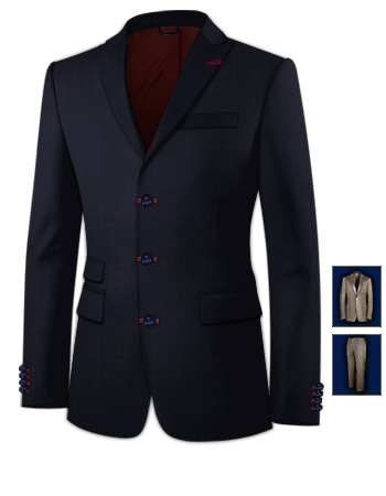 Massanz�ge Aachen with 3 Buttons, Single Breasted