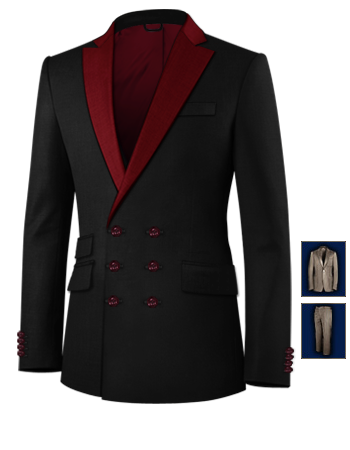 Masskonfektion Mannheim with 6 Buttons, Double Breasted (3 To Close)