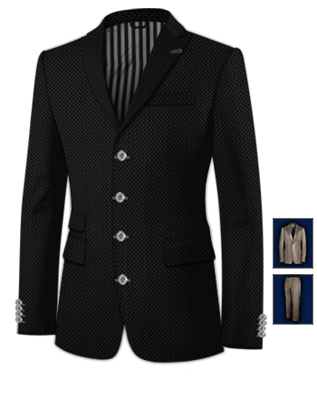 Weisse Anz�ge with 4 Buttons, Single Breasted