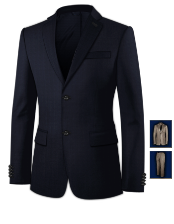 Sakkos Herrenmode with 2 Buttons, Single Breasted