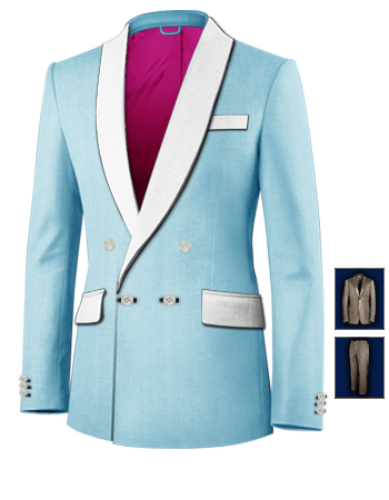 Massunzug Online with 4 Buttons, Double Breasted (1 To Close)