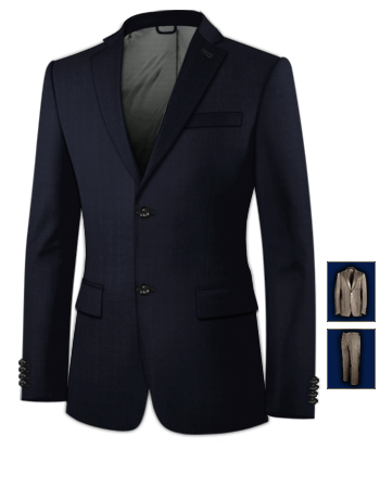 Cordanzug Herren with 2 Buttons, Single Breasted
