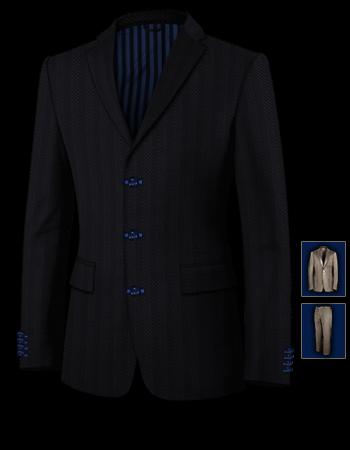 Massgeschneiderte Anzug with 3 Buttons, Single Breasted
