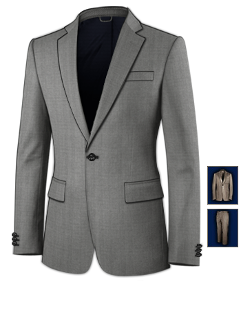 Dreiteiler Slim Fit with 1 Button, Single Breasted
