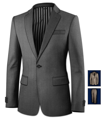 Smoking F�r Hochzeit with 1 Button, Single Breasted