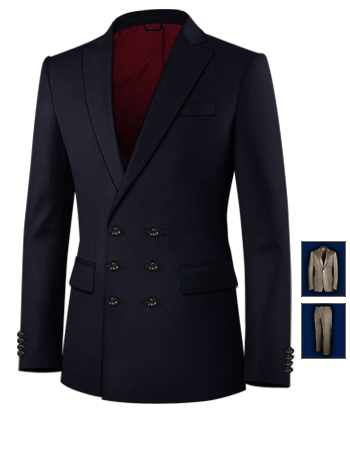 Anz�ge Dresden with 6 Buttons, Double Breasted (3 To Close)