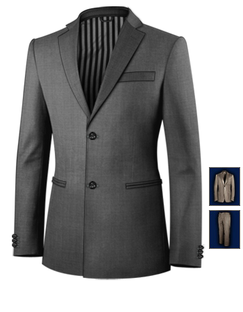 Tailor De Massanzug with 2 Buttons, Single Breasted